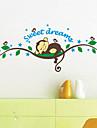 Djur Tecknat 3D Väggklistermärken Väggstickers Flygplan Dekrativa Väggstickers,Vinyl Material Hem-dekoration vägg~~POS=TRUNC