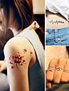 15 pcs Временные тату Временные татуировки Тату с животными / Тату с цветами Non Toxic Искусство тела / С рисунком