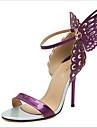 Pantofi pentru femei - Imitație de Piele - Toc Stiletto - Tocuri - Sandale - Outdoor / Rochie - Violet / Auriu / Bej