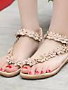 Pentru femei Pantofi Primăvară Toc Drept Flori din Satin Alb / Camel
