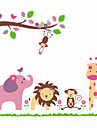 girafa maimuta autocolante de perete elefant leu zoo animal pentru camere copii zooyoo869 pvc decalcomanii de perete decoratiuni