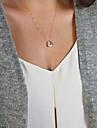Dame Circle Shape stil minimalist Coliere cu Pandativ Aliaj Coliere cu Pandativ .