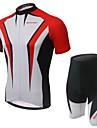 Dam Kortärmad Cykeltröja med shorts - Grå Röd Grön Cykel Shorts Tröja Klädesset, Andningsfunktion, 3D Tablett