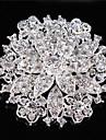 femei de epocă stras cristal de nunta de diamant frunze brosa
