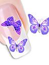1 pcs 3D наклейки на ногти Наклейка для переноса воды маникюр Маникюр педикюр Милый Абстракция / Мода Повседневные / 3D-стикеры для ногтей