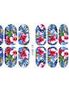 3D Nail Stickers Blomma Tecknat Mode Vackert Dagligen Hög kvalitet