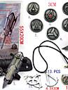 Smycken / Bricka Inspirerad av Assassin\'s Creed Ezio Animé/ Videospel Cosplay Accessoarer Halsband / Gauntlets / Bricka / Brosch Svart