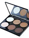 6pcs Poudre Sec Mat Lueur Poudre Blanchiment Couverture Longue Durée Correcteur Naturel Reserrement des Pores Anti-Acne Visage