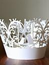 Cilindru Hârtie perlă Favor Holder Cu Forme Hartie pentru Brioșe si Cutii