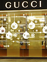 Stilul autocolante de perete de perete decalcomanii fulgi de zăpadă autocolante de perete din PVC de lumină