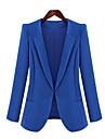 blazer de toamna femei, masiv lung cu maneci albastru / negru primăvara primăvară toamnă