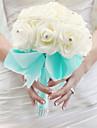 """Flori de Nuntă Legat Manual Trandafiri Buchete Nuntă Mătase Spumă 7.09""""(Approx.18cm)"""