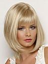 Perruque Synthetique Droit Blond Coupe Carre / Avec Frange Cheveux Synthetiques Partie laterale / Avec Bangs Blond Perruque Femme Court Sans bonnet Blonde
