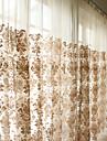 Deux Panneaux Le traitement de fenetre Rustique Moderne Neoclassique Rococo Baroque Europeen Designer Salle de sejour Melange Poly/Coton