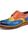 Bărbați Pantofi Piele reală Toamnă Iarnă Pantofi formale Oxfords Dantelă Pentru Nuntă Casual Party & Seară Portocaliu