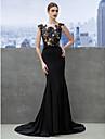 Trompetă / Sirenă Trenă Court Tricot Seară Formală Rochie cu Aplică de TS Couture®