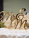Vârfuri de Tort Nepersonalizat Cuplu Clasic Plastic Dur Nuntă / Aniversare / Petrecerea Bridal Shower Auriu / Argintiu Temă Clasică 1 OPP