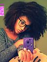 Ljudska kosa Perika pune čipke bez ljepila Full Lace Perika stil Brazilska kosa afro Kinky Curly Perika 120% Gustoća kose s dječjom kosom Prirodna linija za kosu Afro-američka perika 100% rađeno rukom
