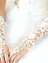 Dantelă Polyester Bumbac Lungime Încheietură Lungime Cot Mănușă Charm Stilat Mănuși de Mireasă With Acrilic Broderie Solid