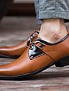 Bărbați Pantofi Piele Primăvară Vară Toamnă Iarnă Noutăți Confortabili Oxfords Dantelă Pentru Casual Party & Seară Alb Negru Maro