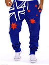 A bărbaților Pantaloni Drăguți Amestec Bumbac Print Casual Albastru / Alb