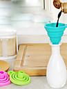 1pc portabile silicon alimentare alimente pâlnie aleatoare bucătărie consumabile