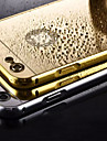 placarea oglinda înapoi cu caz rama metalica de telefon pentru iPhone 5 / 5S (culori asortate)