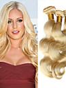 """3 st lot 12 """"-30"""" platina blekmedel blonda 613 jungfru hår peruansk kroppen våg remy människohår väva buntar maskin wefts"""