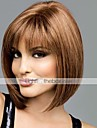 Human Hair Capless Wigs Human Hair Straight Bob Haircut / With Bangs Middle Part Short Capless Wig Women\'s