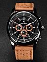 V6 Bărbați Ceas de Mână Quartz Quartz Japonez Piele Bandă Negru Maro Khaki