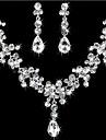 Pentru femei Ștras Set bijuterii Σκουλαρίκια / Coliere - Pentru Nuntă / Petrecere / Zi de Naștere