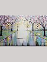 Pictat manual Abstract / PeisajModern Un Panou Canava Hang-pictate pictură în ulei For Pagina de decorare