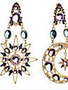 Pentru femei Cercei Picătură - Zirconiu Cubic, Placat Auriu, Diamante Artificiale MOON Lux, European Culoare ecran Pentru