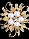 aliaj perla eșarfă clip brosa pentru femei partid