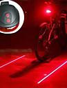 Laser LED Eclairage de Velo Eclairage de Velo / bicyclette Lanternes & Lampes de tente Eclairage de Velo Arriere - VTT Velo tout terrain Cyclisme Resistant aux impacts Lampe LED Transport Facile AAA