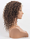Dam Äkta peruker med hätta Äkta hår Hel-spets Spetsfront 120% Densitet Lockigt Peruk Kolsvart Svart Mörkbrun Mellanbrun Kort Mellan Lång
