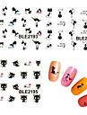 11 Vattenövergångsklistermärke Nail Smycken 3D Nail Stickers Mode Vackert Punk Dagligen Hög kvalitet