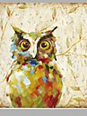 Oil Painting Hand Painted - Animals European Style Canvas
