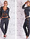 Lång ärm KVINNOR Kostymer ( Romerskt Stickad )med V-ringad i Sexig / Casual / Arbete stil