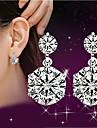 Dame Cercei Picătură imitație de diamant Cute Stil bijuterii de lux costum de bijuterii Plastic Cristal Ștras Bijuterii Pentru Nuntă