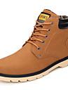Homme Chaussures Polyurethane Automne / Hiver Chaussures formelles / Confort Bottes Bottes Mi-mollet Jaune / Marron / Bleu