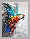 HANDMÅLAD Djur Vertikal, Moderna Hang målad oljemålning Hem-dekoration En panel