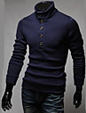 Homme Pullover - Couleur Pleine, Style moderne