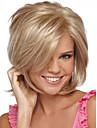 人工毛ウィッグ ストレート スタイル キャップレス かつら ブロンド ブロンド 合成 女性用 サイドパート ブロンド かつら ショート