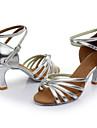 Pentru femei Pantofi Dans Latin / Pantofi Salsa / Pantofi de Samba Satin / Imitație de Piele Sandale Cataramă Toc Personalizat / Interior