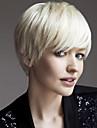 Syntetiske parykker Lige Stil Lågløs Paryk Blond Hvid Syntetisk hår Dame Blond Paryk