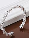 Pentru femei Argilă Brățări Bangle / Brățări Bantă - Design Unic / Ajustabile / Modă Cercul Twist / Țesătură Argintiu Brățări Pentru