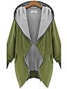 Palton (Bumbac) Vintage/Casual/Party/Business/Plus Size - Lung - Fără manșon - Mediu
