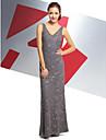 Trompetă / Sirenă În V Lungime Gleznă Totul peste dantelă Bal / Seară Formală Rochie cu Dantelă de TS Couture®
