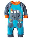 Bebelus Unisex Set Îmbrăcăminte Bumbac Primăvară Vară Toamnă Manșon Lung Desen animat Maro Rosu Albastru Roz Fucsia